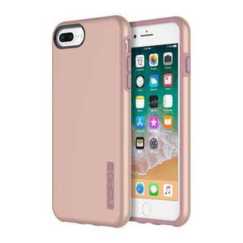 Iphone 8 Plus Case Iphone 7 Plus Case Incipio Premium Dualpro Shockproof Hard Shell Hybrid Rugged Dual Layer Protective Outer Shell Shock And Impact Absorption Cover (5.5 Inch)  Iridescent Rose Gold