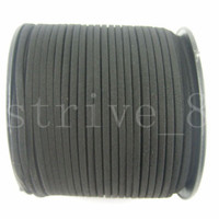 5/100 Yards Korea Faux Suede Cord Flat Leather Cord Bracelet Necklace Rope 2.5mm