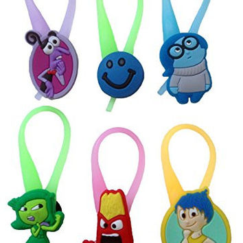 Inside Out Luminescent Colorful Silicone Snap Lock Zipper Pulls 6 Pcs Set #1