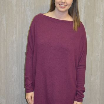Shades Of Love Plum Sweater