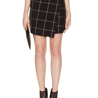Asymmetric Window Pane Skirt