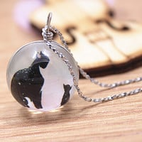 Vintage Style Cat Necklace Gift 148