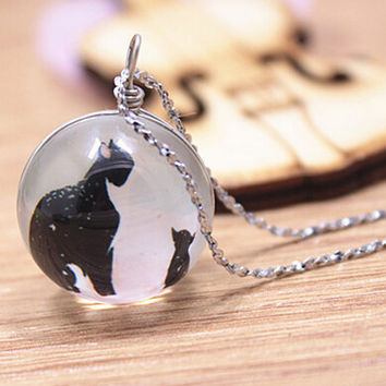 Vintage Style Handmade Cat Necklace Gift 148
