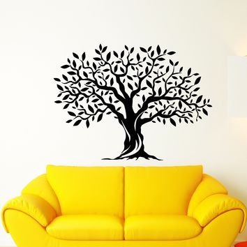Vinyl Wall Decal Nature Tree Leaves Forest Room Decor Stickers (2469ig)