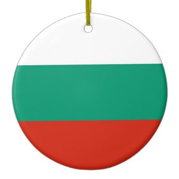 Ornament with flag of Bulgaria