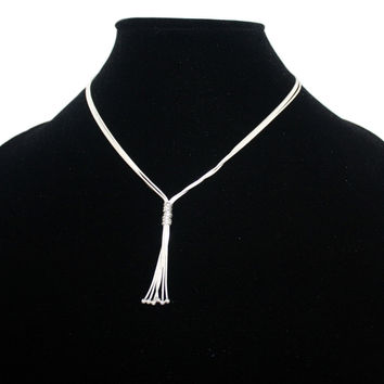 3 layered sterling silver chain necklace S1