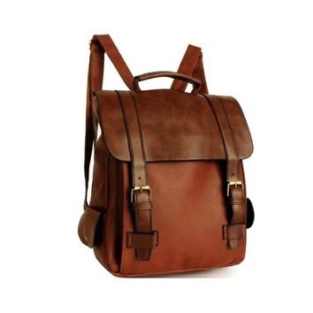 Fashion Women Leather Backpack Vintage Backpack Retro Small Lady Schoolbag School Backpacks