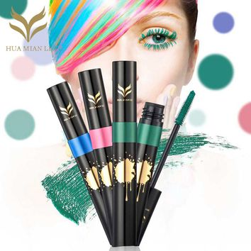 HUAMIANLI Color Mascara Faint Waterproof Anti-sweat Exaggerate Mascara Water-proof Curling Thick Eye Eyelashes Makeup Mascara