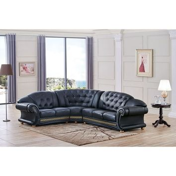 Luca Home Anthony Tufted Left Facing Sectional | Overstock.com Shopping - The Best Deals on Sectional Sofas