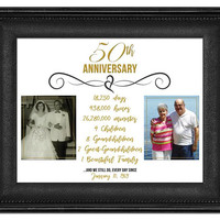 50th Anniversary Photo Gift - Gold Anniversary Print -  50 Wedding Anniversary Gift - Parents Anniversary Gift - Grandparent Anniversary