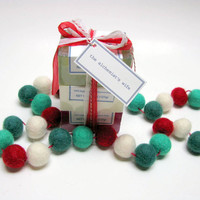 Gift for coworker | holiday stocking stuffers | natural soap glycerin | secret Santa gift | hostess gift