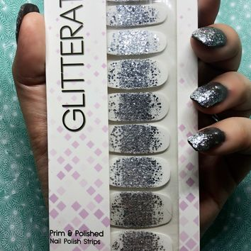 """Star Shower"" Ombre Tip Nail Polish Strips"