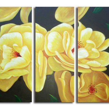 Yellow Grace Canvas Wall Art