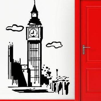 Wall Stickers Vinyl Decal Big Ben London England Cool Travel Decor Unique Gift (z2285)