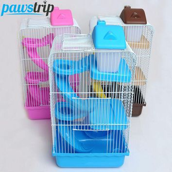 3-Level Wire Small Animal Cage w/ Accessories