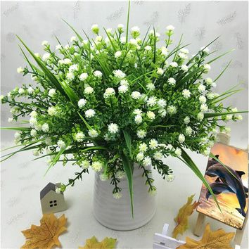 niceEshop Artificial Plants, Hogado Faux Baby's Breath Fake Gypsophila Shrubs Simulation Greenery Bushes Wedding Centerpieces Ta