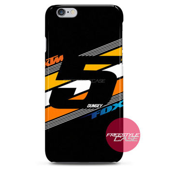 Ryan Dungey 5 KTM Fox Head Supercross KTM Team iPhone Case 3, 4, 5, 6 Cover