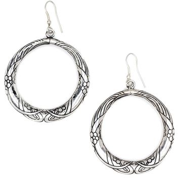 Selene Brass Hoop Earrings - Fair Trade