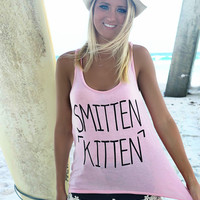 Smitten Kitten Pink Graphic Tank Top