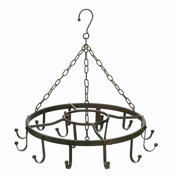 Pot Rack-Circular Double Ring Black Iron