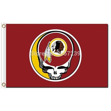 Washington Redskins Stealing Your Face Flag 3x5FT NFL banner 100D 150X90CM Polyester brass grommets custom66,free shipping