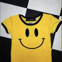 SWEET LORD O'MIGHTY! OG SMILEY RINGER TEE