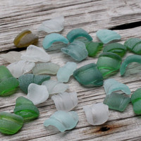 Sea Glass Bottle Lips  Bottle Rims Bottle Necks  31 pieces