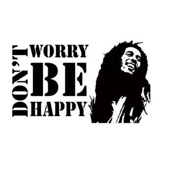 Q008 Don't Worry Be Happy BOB MARLEY Music Quote Vinyl Wall Decals Sticker free shipping