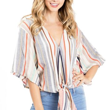 Indie Front-Tie Blouse