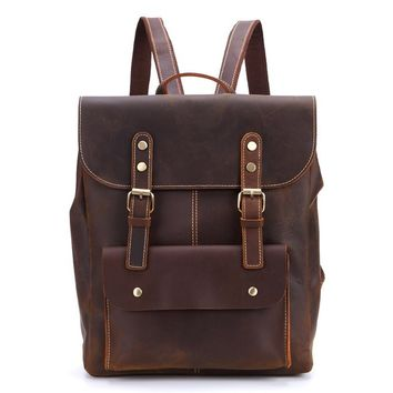 BLUESEBE HANDMADE VINTAGE LEATHER BACKPACK 9452