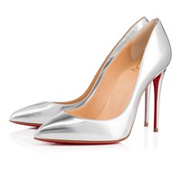Pigalle Follies 100 Silver Specchio/Laminato - Women Shoes - Christian Louboutin