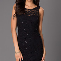 Short Sleeveless Lace Dress by Jump