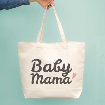 Baby Mama Diaper Canvas Bag Cute Grocery Book Large Bags Gifts For New Moms