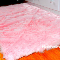3' x 5' New Premium Shag Fur Area Rug Nursery Room Decor Home Accents Pink Blue White Contemporary Modern Shag Carpet Throw Rug