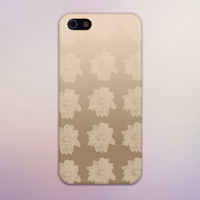 Metallic Gold Flowers Design Case for iPhone 6 6 Plus iPhone 5 5s 5c iPhone 4 4s Samsung Galaxy s5 s4 & s3 and Note 4 3 2