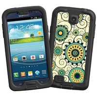 """Swirls Yellow """"Protective Decal Skin"""" for LifeProof fre/nuud Samsung Galaxy S4 Case"""