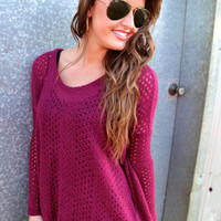 Berry Piko Knit