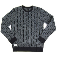 Quiet Life: Rope Crewneck Sweater - Black