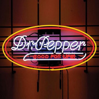 Dr Pepper Soda Neon Sign