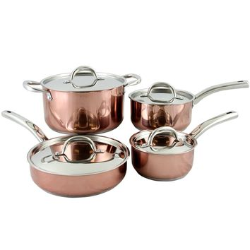 Oster Brookfield 8 Piece Cookware Set in Copper