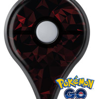 Dark Red Geometric V2 Pokémon GO Plus Vinyl Protective Decal Skin Kit