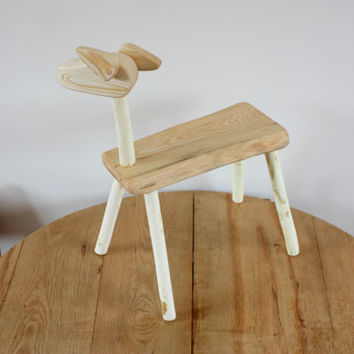 Kids Bench - Wooden dog bench for kids - Childrens Furniture - small stool - dog bench from wood - furniture - step stool - childrens bench