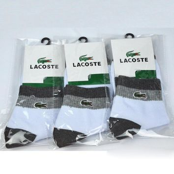 LACOSTE Woman Men Cotton Socks
