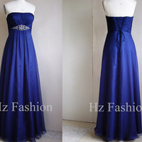 Sweetheart Neckline Royal Beading Long Formal Prom Dress/Evening Gown/2014 Party Dress