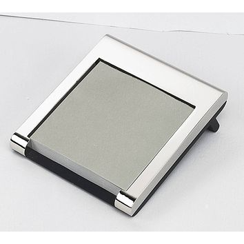 Personalized Free Engraving Silver Memo Note Pad Holder