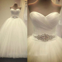 Bridal  White/Ivory Wedding Dress bridal Gown Custom Size 4 6 8 10 12 14 16 18