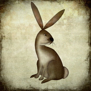 The rabbit by majalin on Etsy