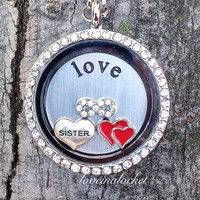 Sister Floating Locket, Sister Living Locket, Sister Locket Necklace, Sister  Gifts, I Love My Sister, Sister Necklace, Sister Silver Locket