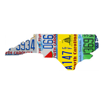 North Carolina License Plate wall decal