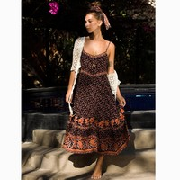 Long Boho Dress Plum Floral Print Dresses Sleeveless Strap Sexy V-neck Dress Hippie Boho Women Dress Vestidos